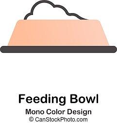 kolor, mono, żywieniowy, puchar, ikona