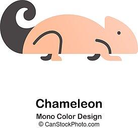kolor, mono, kameleon, ikona