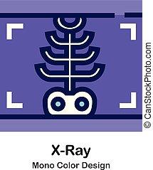 kolor, mono, rentgenowski, ikona