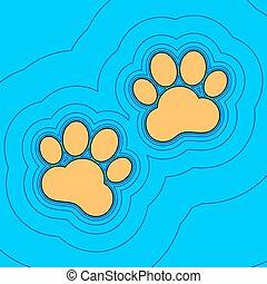 kolor, niebo, kontur, błękitny, pole, -, tło., czarnoskóry, kontury, zwierzę, mapa, vector., poznaczcie., ślady, equidistant, sea., fale, ikona, podobny, wyspa, ocean, piasek, albo