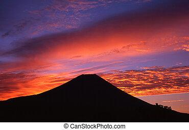 kolor, niebo, rano