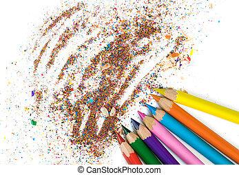 kolor, ołówki