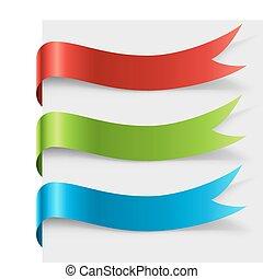kolor, okrągły, czysty, łukowaty, strona, wstążka