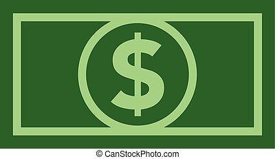kolor, płaski, halabarda, dolar, ikona