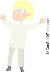 kolor, płaski, mistrz kucharski, rysunek, ilustracja