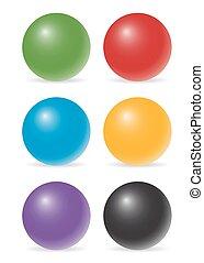 kolor, piłki