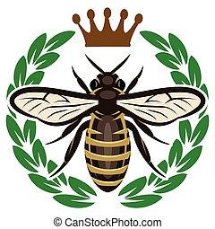 kolor, próbka, przelotny, korona, pszczoła, wektor