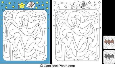 kolor, przez, kropka, worksheet