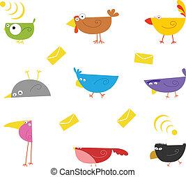 kolor, ptaszki