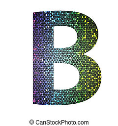 kolor, różny, b, litera