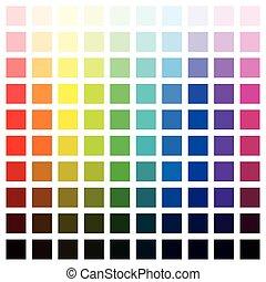 kolor, różny, sto, kolor, widmo