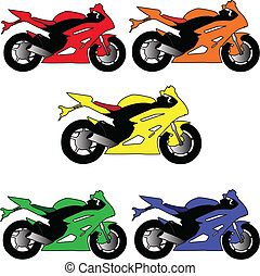 kolor, -, różny, wektor, motory