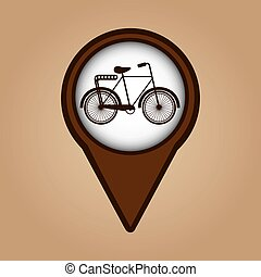 kolor, rocznik wina, symbol, rower, ikona
