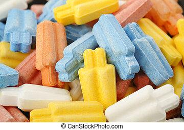 kolor, słodki, cukierek