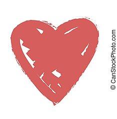 kolor, sercowa forma, projektować, dla, miłość
