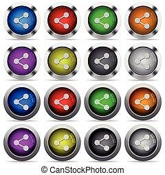kolor, sieć, komplet, część, pikolak