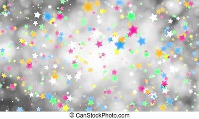 kolor, szary, padające gwiazdy, tło