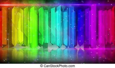kolor, tęcza, elementy, pętla