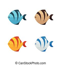 kolor, tiger, fish, 4