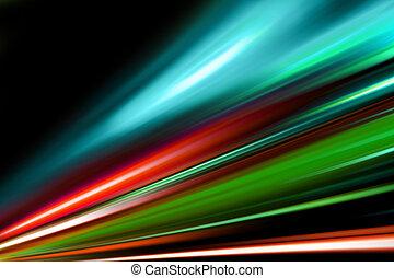 kolor, ulica, magia, noc