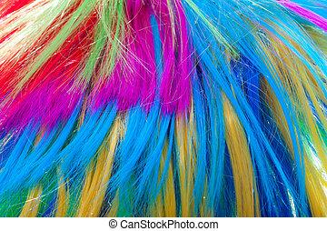 kolor, włosy, tło