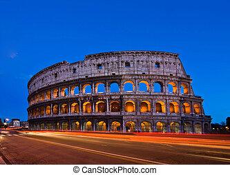 kolosszeum, olaszország, róma, éjszaka