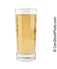kolsyrad, mjuk dricka, in, a, glas