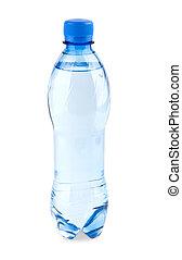 kolsyrad vatten, in, den, flaska