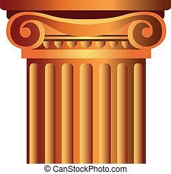 kolumna, górny, kapitał