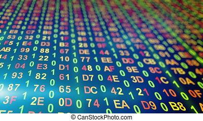 kolumny, dane, wstecz, loopable, cyfrowy