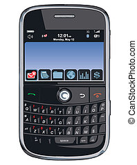 /, komórka głoska, wektor, pda, /blackberry
