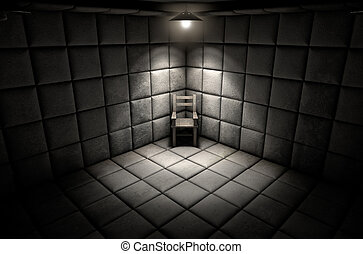komórka, krzesło, opróżniać, podwatowany