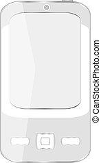 komórka, ruchomy, mądry, (iphone), telefon