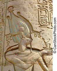 kom, ファラオ, ombo, 救助, egypt:, 寺院