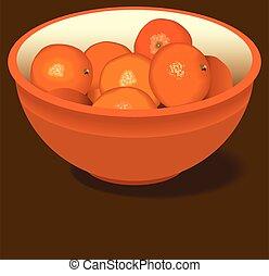 kom, sinaasappel, sinaasappel