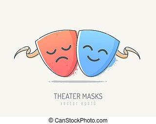 komedia, tragedia
