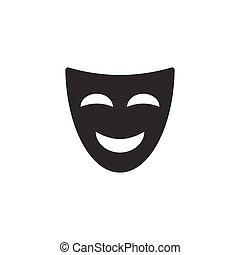 komediowa maska, ikona