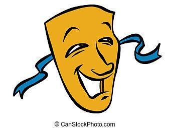 komediowa maska