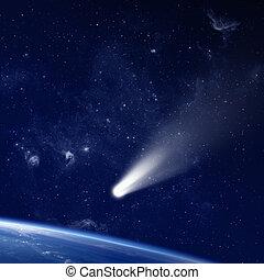 komeet, ruimte