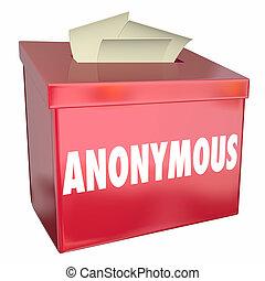 komentarz, boks, nazwa, nie, sprzężenie zwrotne, prywatny, ilustracja, anonimowy, propozycja, 3d