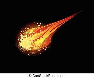 komet, vektor, hintergrund