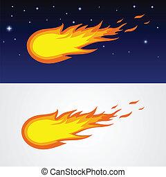 kometen, karikatuur