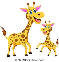 komický, žirafa, karikatura