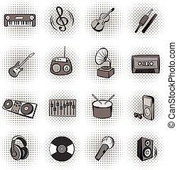 komieken, muziek, black , iconen