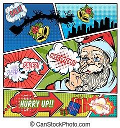 komieken, omzet, pagina, kerstmis