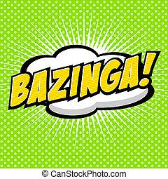 komik, bazinga!, mowa, bubble.