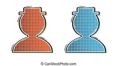 komik, kapelusz, dwa, avatars
