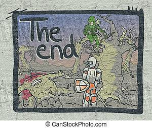 komik, koniec