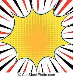 komik książka, wybuch, superhero, rozrywajcie sztukę, styl, promieniowy, kwestia, tło., manga, albo, anime, szybkość, ułożyć