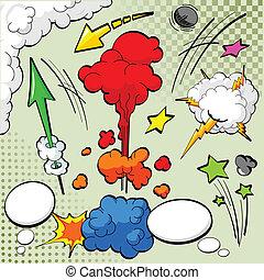 komik książka, zaprojektujcie elementy